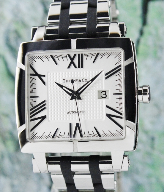 LIKE NEW TIFFANY & CO AUTOMATIC STAINLESS STEEL WATCH