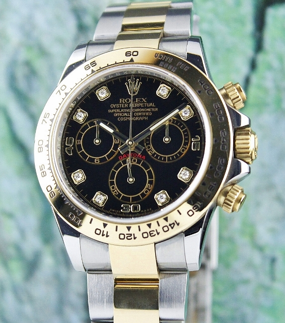 LIKE NEW ROLEX OYSTER 18K YELLOW GOLD AND STEEL DAYTONA COSMOGRAPH - 116503