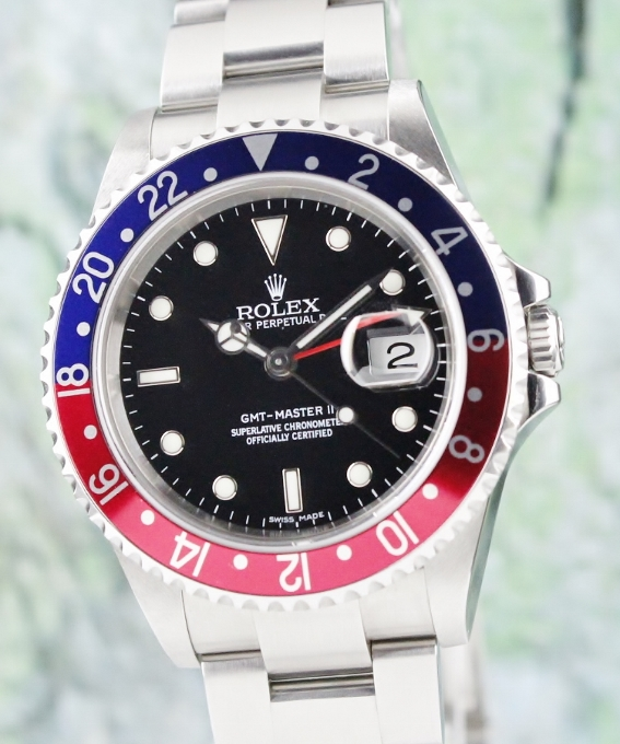 UNPOLISHED RARE ROLEX OYSTER PERPETUAL DATE / GMT-MASTER II / ERROR DIAL / 16710 T