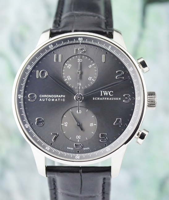 IWC 18K White Gold Portuguese Chronograph Automatic Watch / IW371431