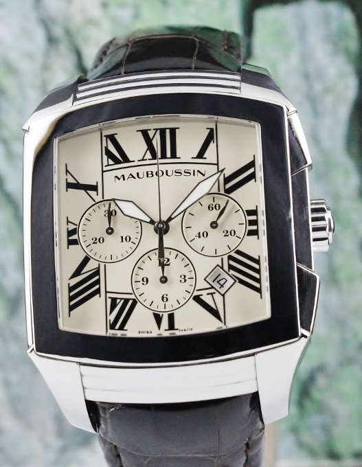 MAUBOUSSIN STAINLESS STEEL CHRONOGRAPH AUTOMATIC WATCH