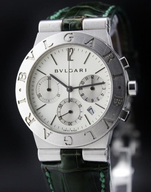 A BVLGARI DIAGONO CHRONOGRAPH WATCH