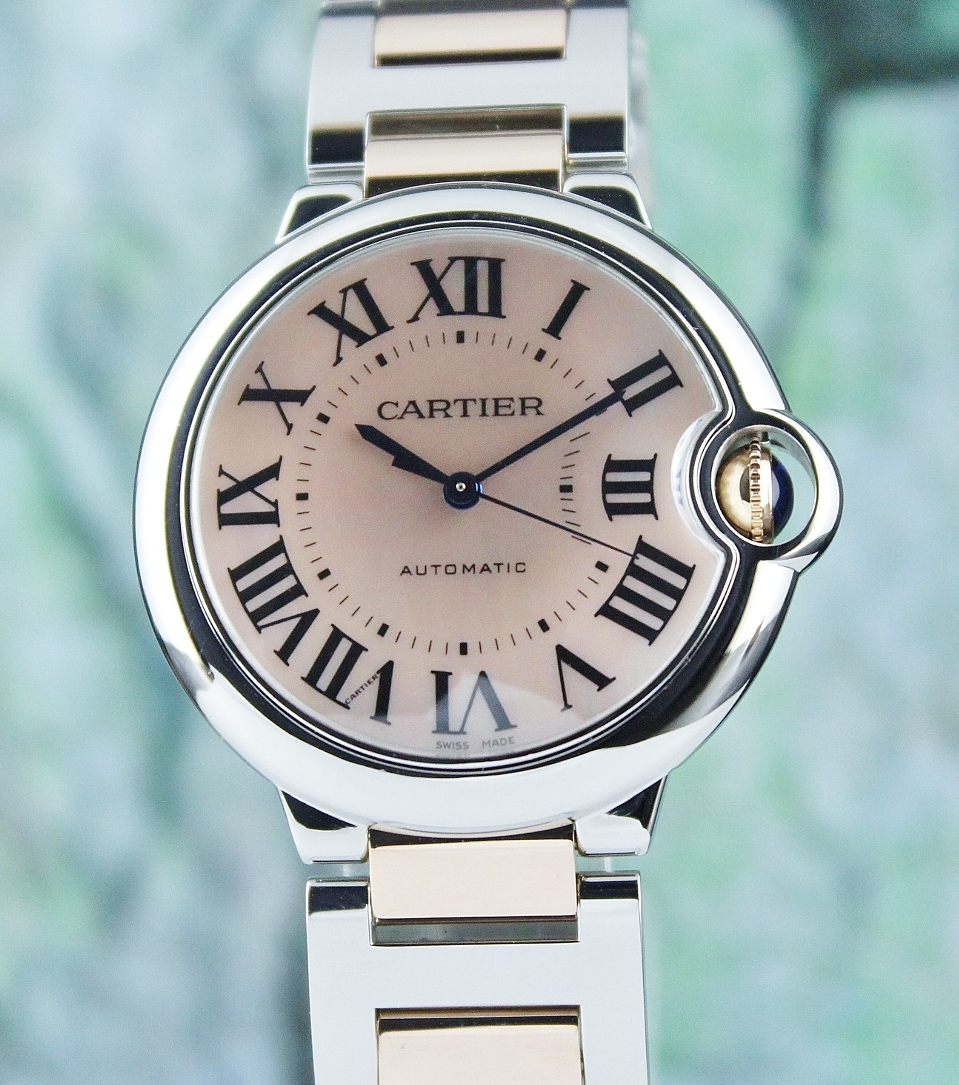 A Cartier Ballon Bleu 18K Rose Gold & Stainless Steel Automatic Watch / 3284