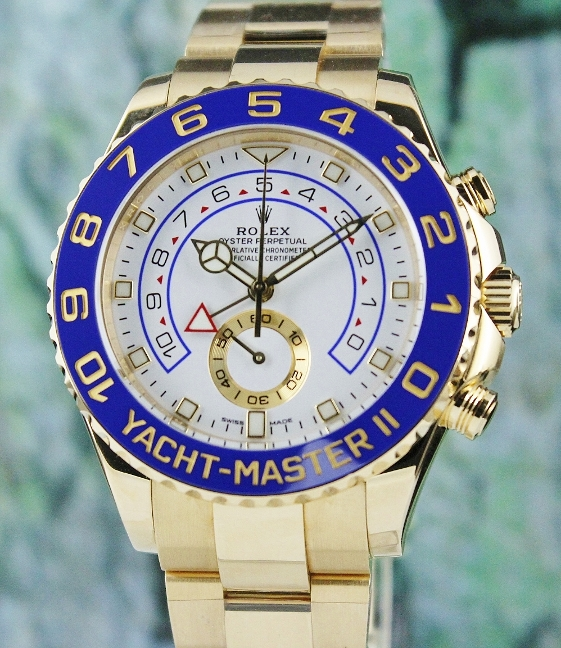 LIKE NEW ROLEX 18K YELLOW GOLD YACHTMASTER II / 116688