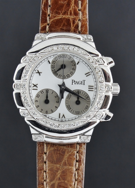 PIAGET 18K WHITE GOLD TANAGRA HAUTE COMPLICATION WATCH / 14071