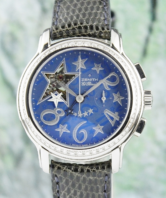 LIKE NEW Zenith Stainless Steel Baby Doll Open Star El Primero / 16.1230.4021/32.C577