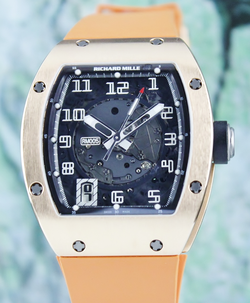 A Richard Mille 18K Rose Gold Automatic Watch / RM 005