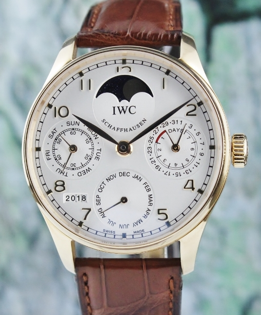 Unpolished IWC 18K Yellow Gold Portuguese Perpetual Calendar / IW502213