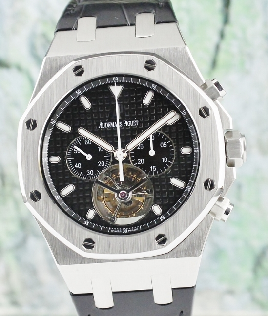 Audemars Piguet Royal Oak Chronograph Tourbillon Watch / 25977ST.OO.D002CR.01