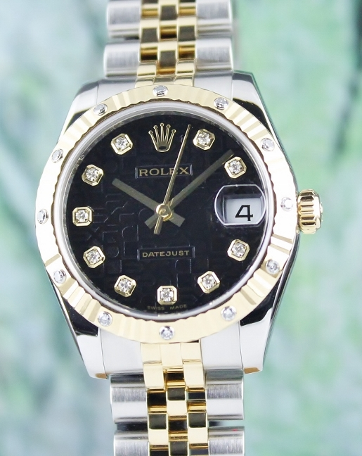 100% ORIGINAL ROLEX MID SIZE OYSTER PERPETUAL DATEJUST /178313