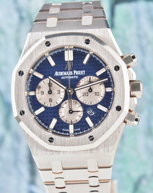 UNPOLISHED LIKE NEW AP ROYAL OAK CHRONOGRAPH / BLUE DIAL / 26331OR.OO.1220OR.01