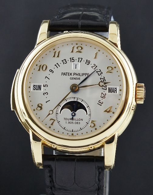 RARE PATEK PHILIPPE MINUTE REPEATER 18K YELLOW GOLD / 5016J