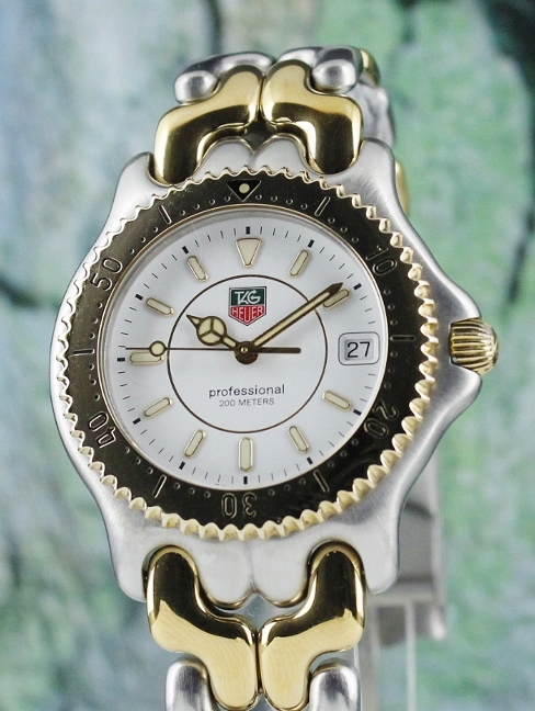 MINT TAG HEUER STEEL AND GOLD SEL PROFESSIONAL / WG1122-0