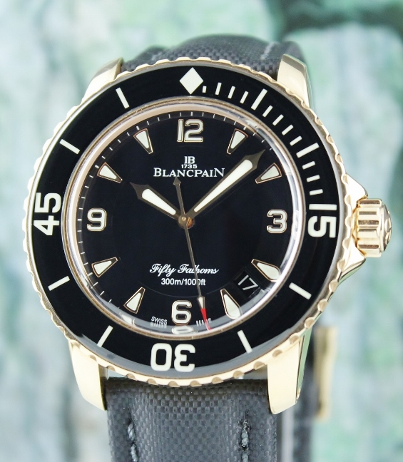 Blancpain Fifty Fathoms 45mm 18K Rose Gold Automatic Watch / 5015-3630-52B