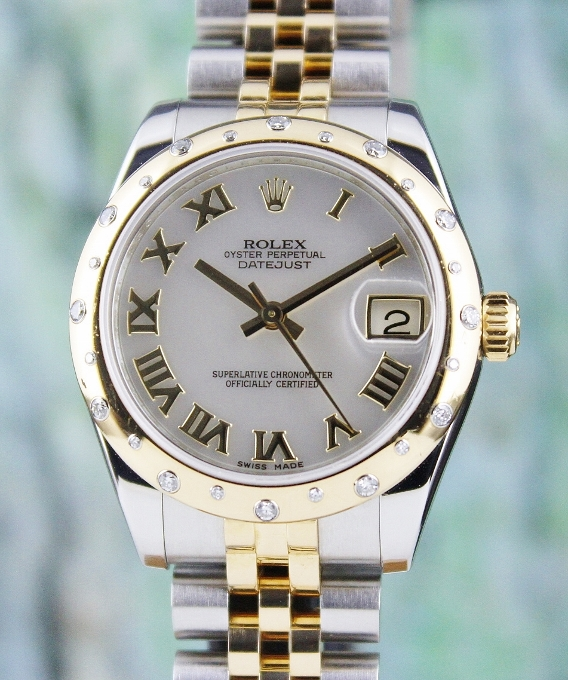 ROLEX MID SIZE STEEL OYSTER PERPETUAL DATEJUST /178343
