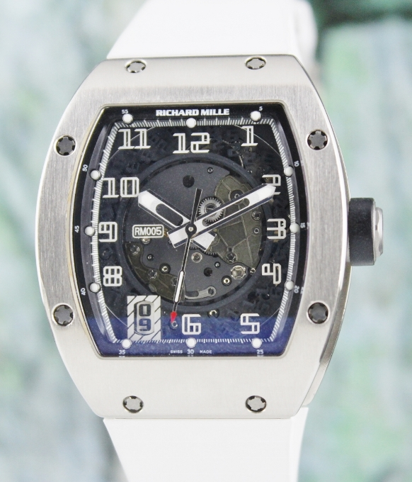 A Richard Mille 18K White Gold Automatic Watch / RM 005