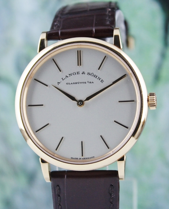 A. Lange & Sohne 18K Pink Gold Manual Winding Saxonia / 201.033