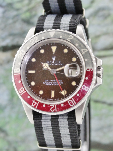 "RARE DIAL ROLEX GMT ""FAT LADY"" VINTAGE OSYTER PERPETUAL / 16760"