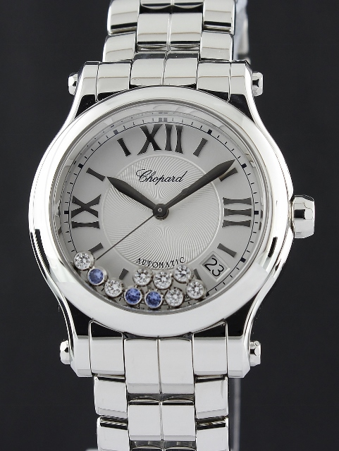 A CHOPARD STAINLESS STEEL AUTOMATIC HAPPY SPORT WATCH / MOP / 278559