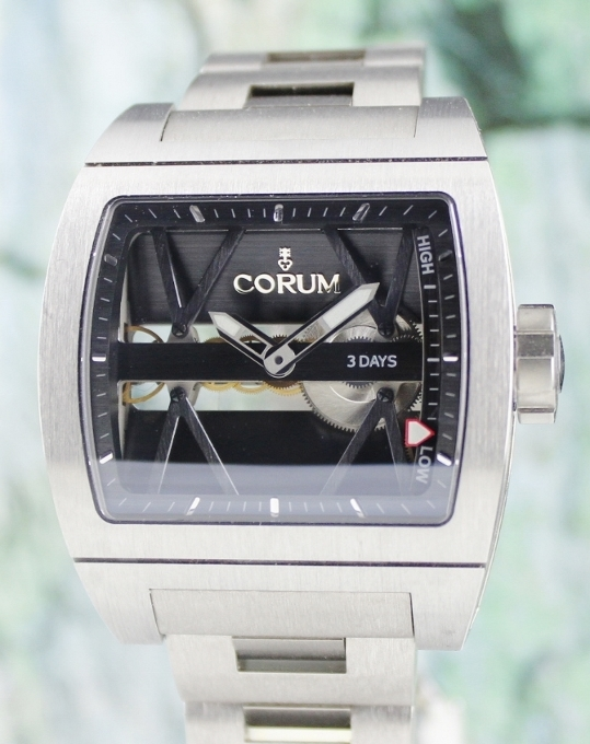 LIKE NEW UNPOLISHED CORUM TI-BRIDGE SKELETON DIAL / 107.101.04/V250 0000