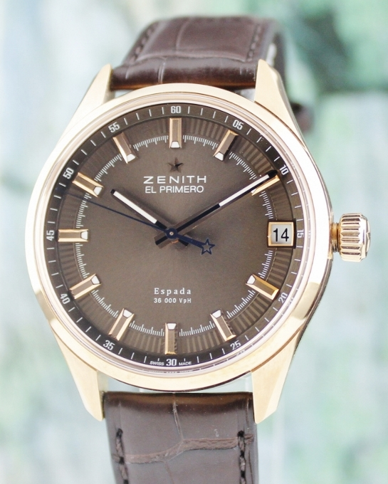 Like New Unpolished El Primero Espada Espada 18K Rose Gold Watch / 18.2170.4650/75.C713