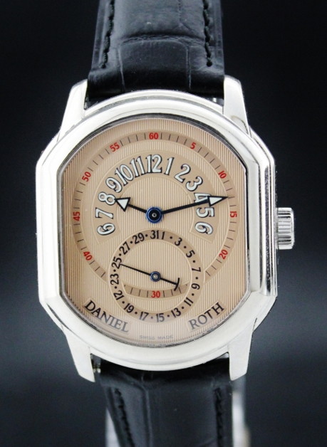 A DANIEL ROTH 18K SOLID WHITE GOLD AUTOMATIC WATCH