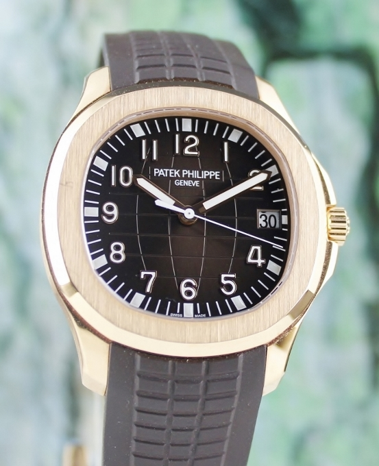 UNPOLISHED PATEK PHILIPPE 18K ROSE GOLD AQUANAUT / 5167R