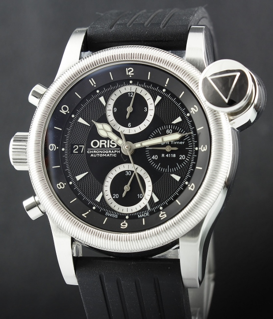 ORIS STAINLESS STEEL LIMITED EDITION FLIGHT TIMER / R4118