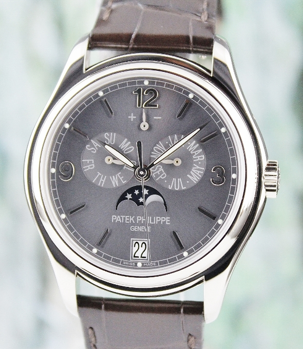 LIKE NEW UNPOLISHED PATEK PHILIPPE ANNUAL CALENDAR MOON PHASE POWER RESERVE/ 5146G