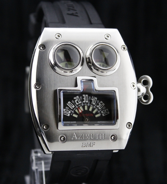 A AZIMUTH MR ROBOTO STEEL WATCH
