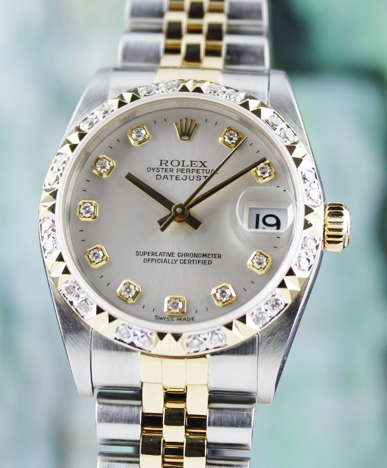 LIKE NEW ROLEX MID SIZE OYSTER PERPETUAL DATEJUST / 78273