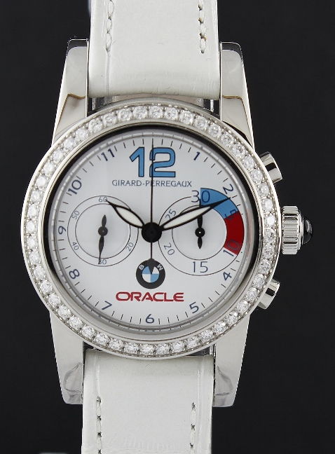 LIKE NEW GIRARD PERREGAUX BMW Oracle Racing Stainless Steel Diamond Watch / 80440