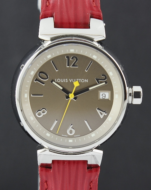 LIKE NEW LOUIS VUITTON LADY SIZE STAINLESS STEEL WATCH / Q1312