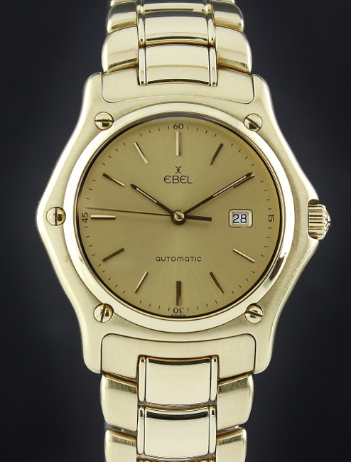 EBEL 1911 18K SOLID GOLD AUTOMATIC WATCH / 893902