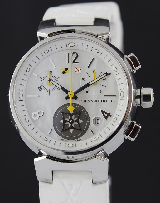 LIKE NEW LOUIS VUITTON LADY SIZE STAINLESS STEEL WATCH / Q132C