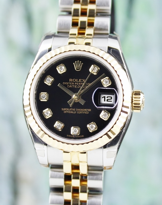 LIKE NEW ROLEX LADY SIZE OYSTER PERPETUAL DATEJUST - 179173