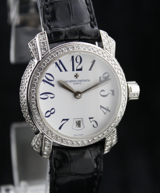 A Vacheron Constantin Lady 18K Gold Diamond Watch