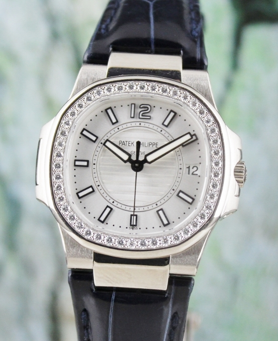 Patek Philippe 18K White Gold Nautilus Lady Watch / 7010G-011