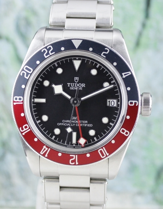 TUDOR BLACK BAY GMT PEPSI AUTOMATIC WATCH / 79830RB