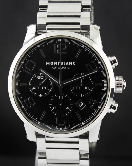 A MONT BLANC TIMEWALKER 42MM STAINLESS STEEL CHRONOGRAPH / 7141