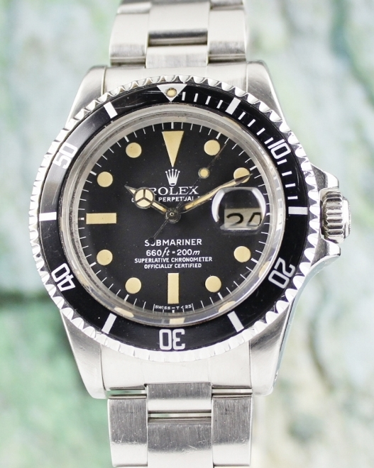 ROLEX VINTAGE SUBMARINER OYSTER PERPETUAL DATE / 1680 / CERT