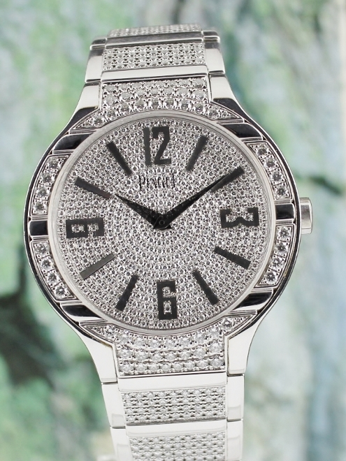 100% ORIGINAL PIAGET POLO 18K WHITE GOLD FULL DIAMOND 40MM AUTOMATIC / G0A36226