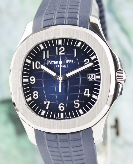 UNPOLISHED PATEK PHILIPPE 18K WHITE GOLD AQUANAUT / 5168G