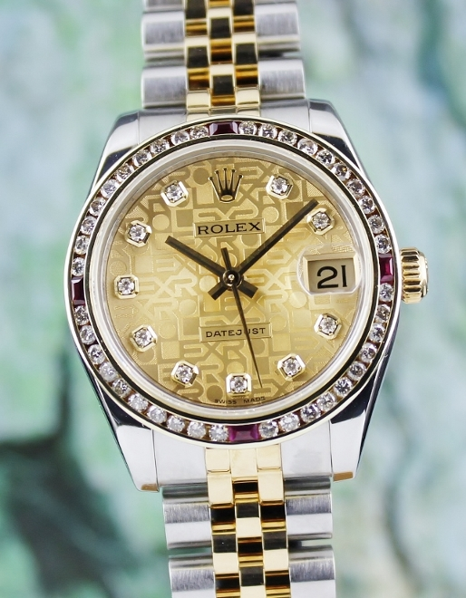 ROLEX MID SIZE OYSTER PERPETUAL DATEJUST / 178273