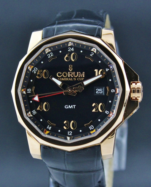 BRAND NEW CORUM PINK GOLD GMT ADMIRAL'S CUP