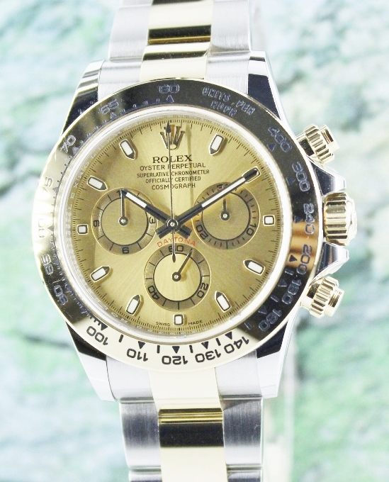 MINT UNPOLISHED ROLEX STEEL AND GOLD DAYTONA COSMOGRAPH - 116503