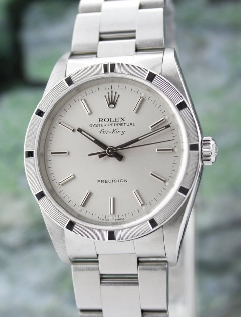 ROLEX MEN SIZE STAINLESS STEEL OYSTER PERPETUAL DATEJUST / 14010