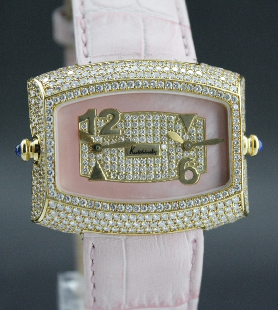 A Kutchinsky 18K Solid Gold Diamond Lady Watch