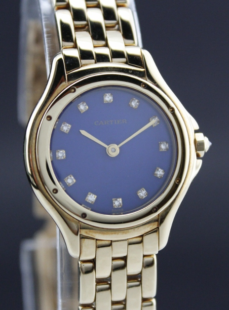 "A ""CARTIER"" LADY 18K SOLID YELLOW GOLD WATCH"
