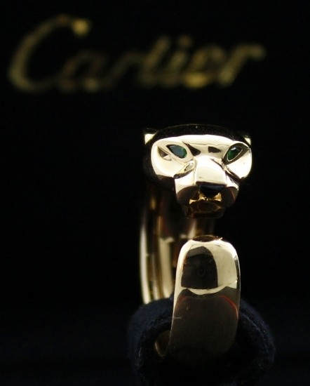 100% ORIGINAL CARTIER 18K SOLID GOLD PANTHER RING